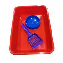 Kit-Sanitario-Gato-Deses-Plast®-Batea-Comedero-Pala