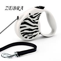 Correa-Perro-Extensible-Flexi®-Black-and-White-Zebra-5m-