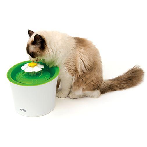 Bebedero-Fuente-Con-Flor-Catit-Para-Gatos-Blanco