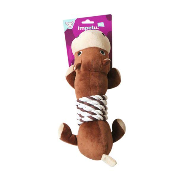 Juguete-Para-Perro-Hipopotamo-De-Peluche-Con-Soga