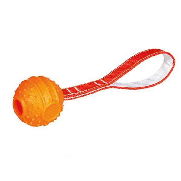 Pelota-Con-Soga-Soft---Strong-Naranja-Para-Perros
