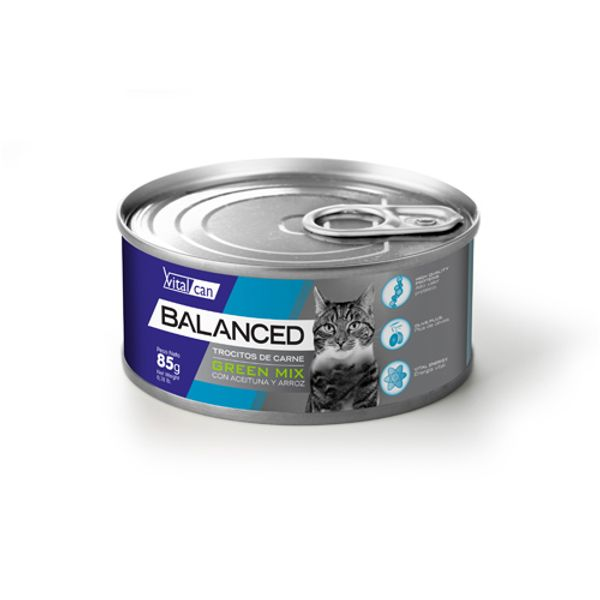Alimento-Gato-Humedo-Lata-Vitalcan-Balanced-Green-Mix-