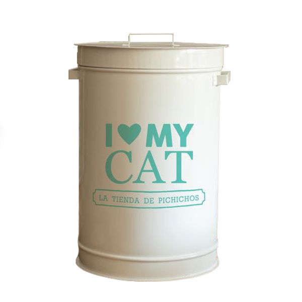 Dispenser-I-Love-My-Cat-Color-Aqua-
