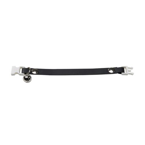 Collar-Ergoflex-Cat-Negro-Con-Cascabel