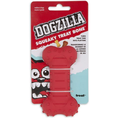 Dogzilla-Squeaky-Treat-Bone