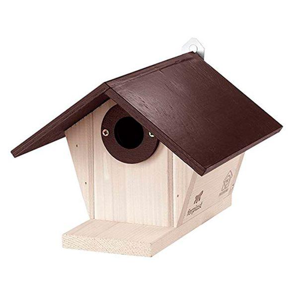 Casa-Para-Aves-Nest-De-Madera-Blanca