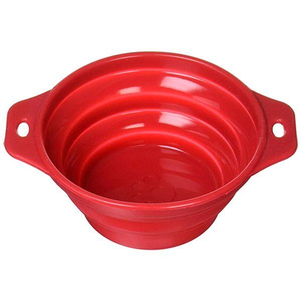 Comedero-Bebedero-Plegable-De-Silicona-Rojo
