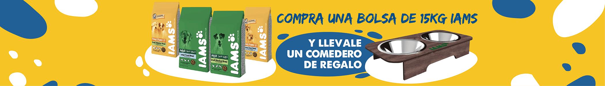 Banner Iams Comedero