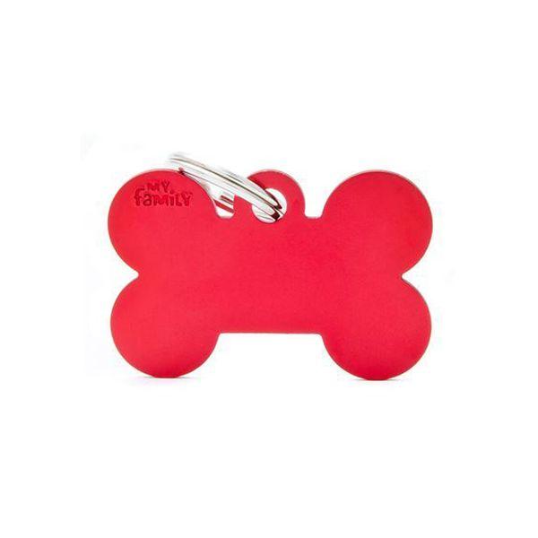 Chapita-My-Family-Hueso-De-Aluminio-Rojo