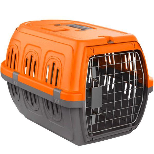 Transportadora-Pawise-Rigida-Travel-kennel-Naranja