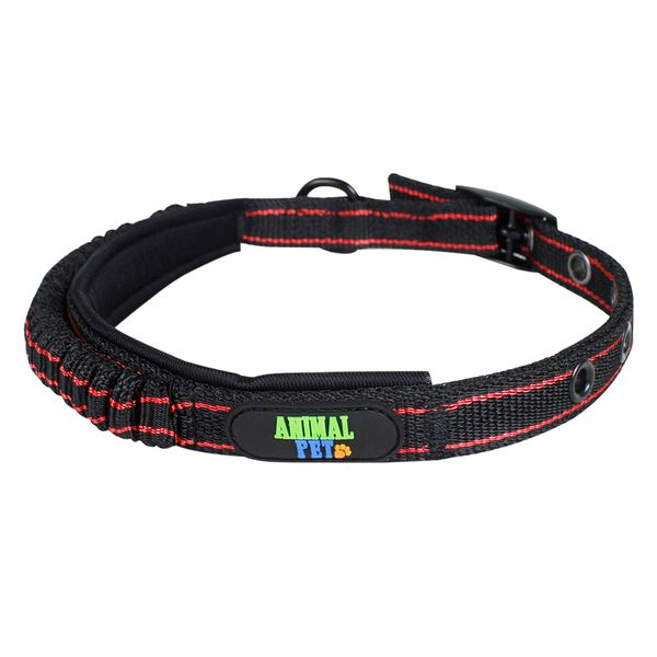 Collar-Elastico-Animal-Pet-Negro-Y-Rojo-S