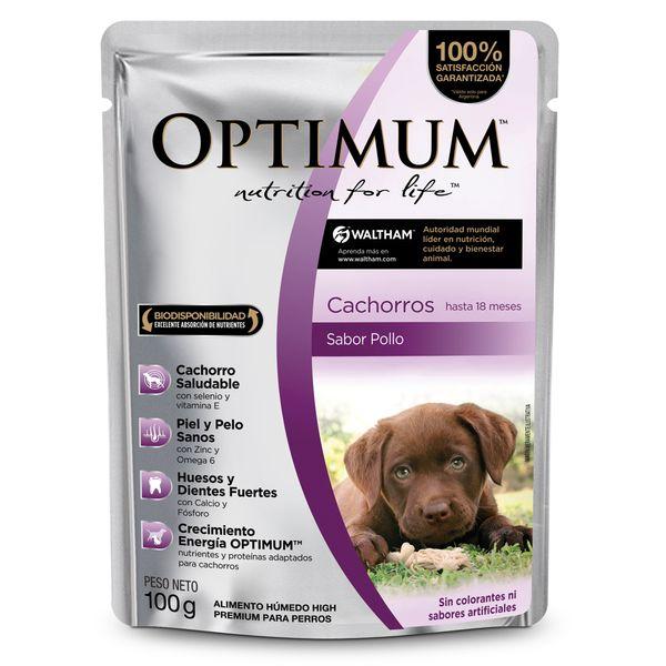 Pouch-Optimum-Perro-Cachorro-100gr