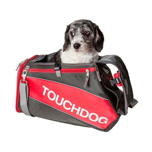 Transportadora-TouchDog-Impermeable-Roja