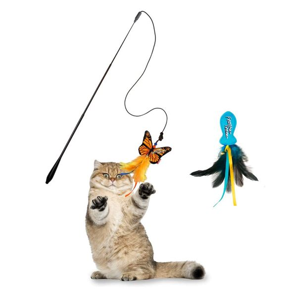 Varita-Gigwi-Feather-Teaser-con-Pez-Azul-y-Mariposa-Amarilla