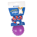 Pelota-Puppis-Rubber-Spikey-Violeta