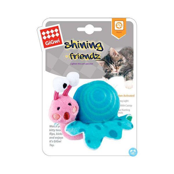 Peluche-Gigwi-Shining-Friends-Snail-con-Luz-y-Catnip