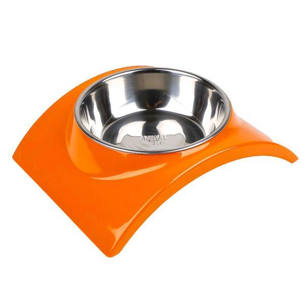 Comedero-Bebedero-Animal-Pet-Curvo-Naranja-Medium