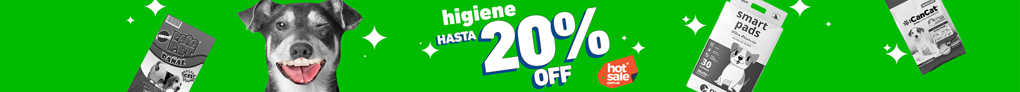 Hot sale Header Categoria Higiene Perro